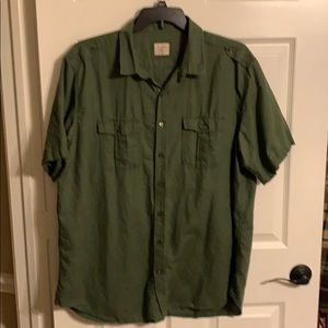 Old Navy XXL button down cotton & linen shirt